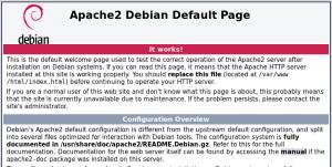 Page par défaut de Apache